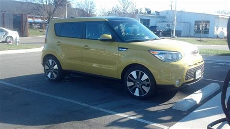 2014 Kia Soul Tire Size Kia Soul Solar Yellow Exclaim With Whole Shabang Package