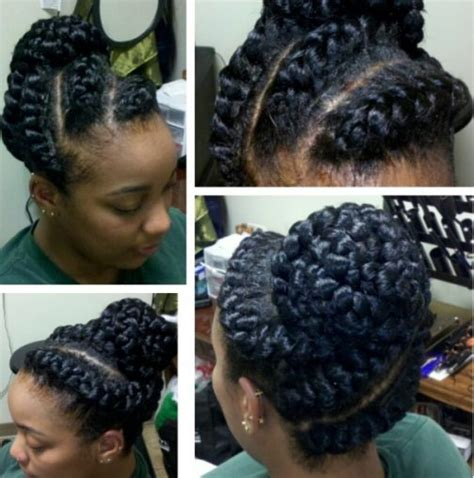 Goddess Braid Hairstyles by Goddess Braids Updo Hairstyles For Black Www