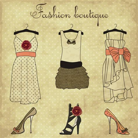 fashion design elements hand drawn fashion design elements vector free vector in
