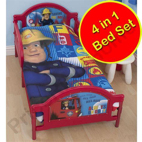 Fireman Sam Bedroom Furniture Fireman Sam Bedding Single Junior Duvet Cover Sets Boys Bedroom Ebay