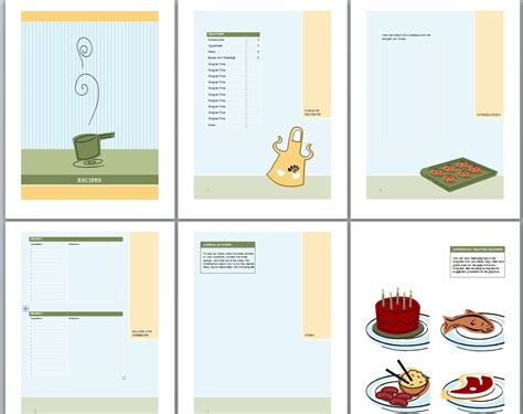 book templates for cookbook template recipe book template