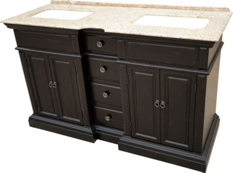58 inch sink bathroom vanity with a distressed