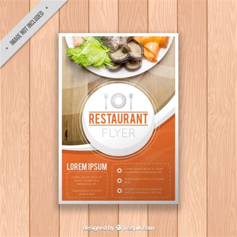 flyers design templates for restaurant restaurant brochure template vector free download