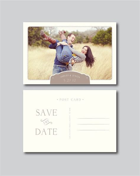 save the date template save the date postcard photography template engagement