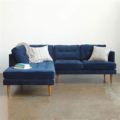 sofa lutz peggy mid century set 2 left arm terminal chaise right