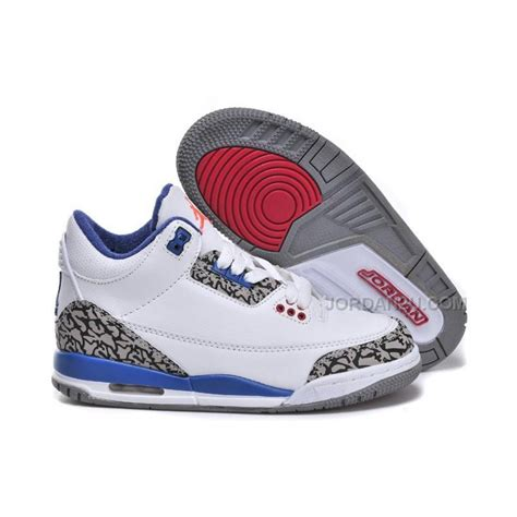 jordans shoes for kid nike air 3 white blue price 59 00 new
