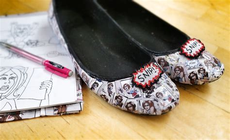 Decoupage Shoes With Paper - crafterella comic shoes 183 how to make a pair of decoupage