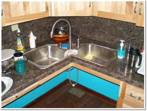 corner kitchen sink design 25 creative corner kitchen sink design ideas