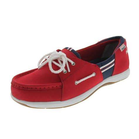 athletic boat shoes ryka 7747 womens cayman leather slip on flat boat shoes