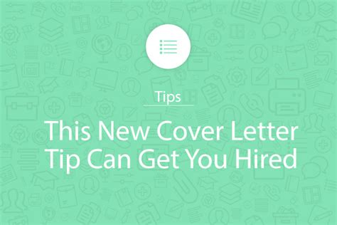 cover letters that get you hired this new cover letter tip can get you hired