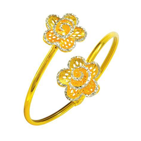 Gelang Dewasa Gold 2 gelang tangan emas 916 wah chan gold jewellery