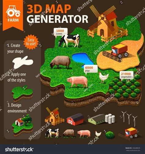 vector map generator vector landscape map generator 183698639