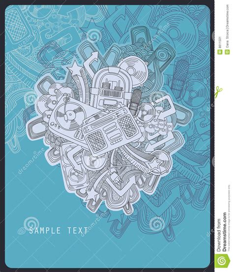 theme line themefile line drawing music theme stock vector image of message