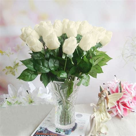 artificial flower decorations for home fake artificial decorations flowers silk rose bouquet