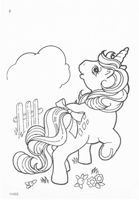 Vintage My Little Pony Coloring Pages | my little pony g1 coloring pages a photo on flickriver