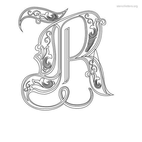 printable decorative fonts 7 best images of art letter r stencil printable