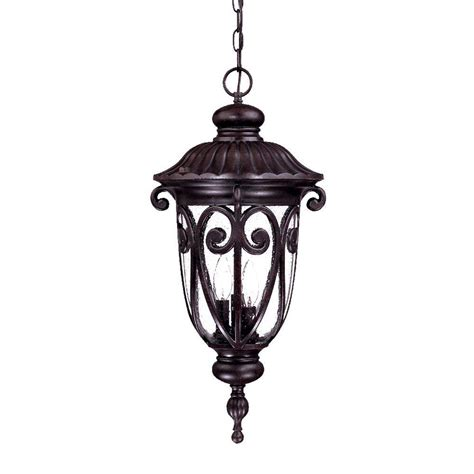 Outdoor Hanging Light Fixture Acclaim Lighting Naples Collection 3 Light Marbleized Mahogany Outdoor Hanging Lantern Light