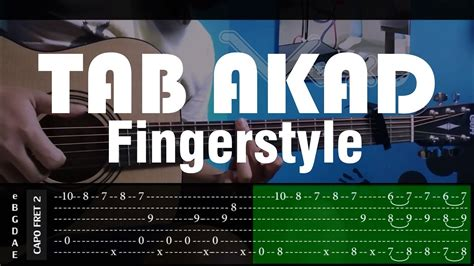 fingerstyle cover tutorial akad payung teduh cover fingerstyle cover tabs