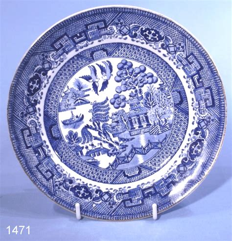 Willow Pattern Image | grimwades ye olde chinese willow pattern vintage tea plate