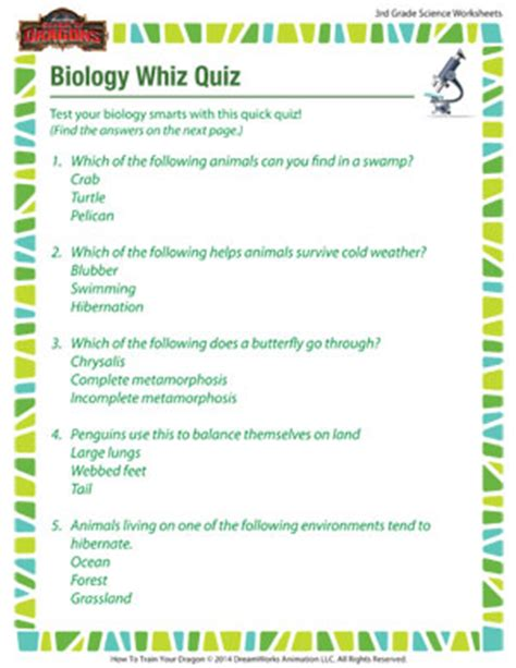 quiz questions biology biology whiz quiz science worksheets and printables for