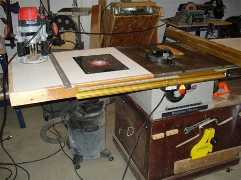 table saw router combo table saw router combo by prez lumberjocks com