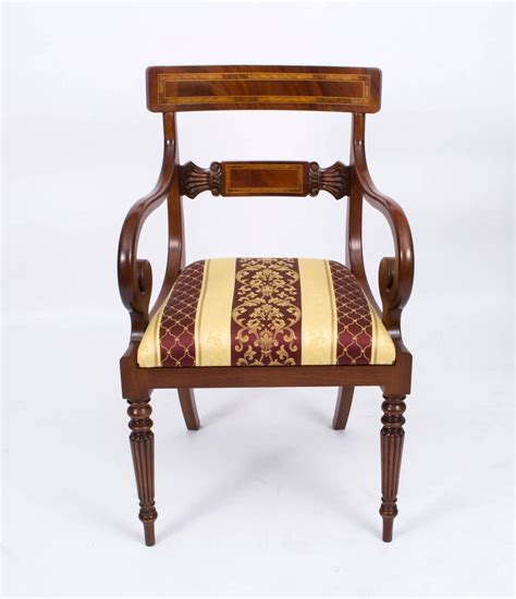 Regency Style Dining Chairs Splendid Set Of 12 Regency Style Dining Chairs And Armchairs At 1stdibs