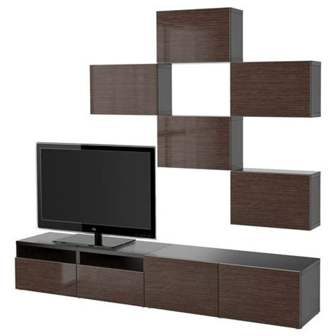 besta tv storage unit besta selsviken tv storage unit black brown gloss brown