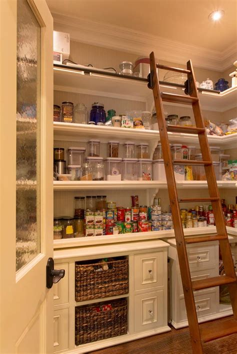 kitchen storage room design inspiring ways of using library ladders in the house