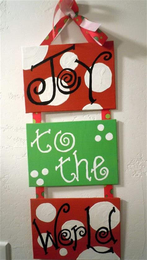 christmas canvas painting ideas christmas decore christmas crafts 30 pics