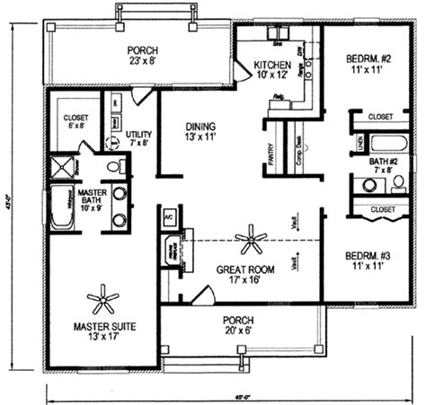 225 sq ft house plan traditional style house plan 3 beds 2 00 baths 1495 sq ft plan 14 225