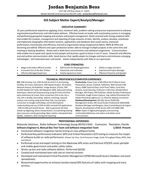gis resume format resume ideas