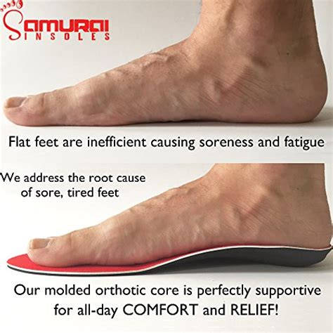 running shoes with arch support for flat orthotics for flat by samurai insoles fight back