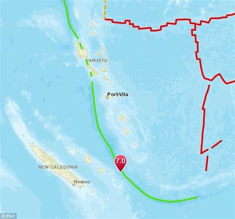 earthquake new caledonia shallow magnitude 7 0 earthquake hits off new caledonia