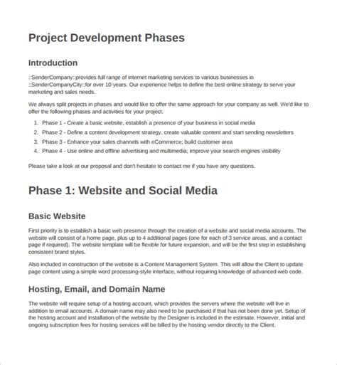 9 Website Design Proposal Templates To Download Sle Templates Web Development Project Template