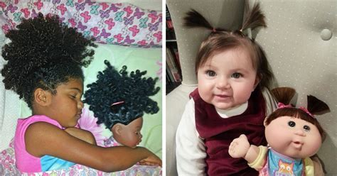 20 babies who look just like their toy dolls bored panda