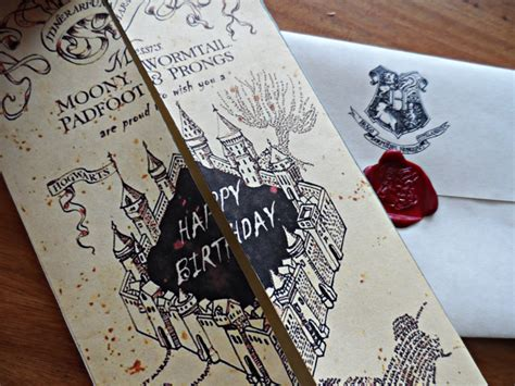 themed birthday cards harry potter birthday card gangcraft net
