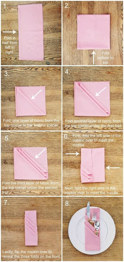 How To Fold Paper Napkins Fancy - folding a cloth napkin the fancy way