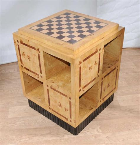 Art Deco Games Table Side Coffee Table Chess Board Furniture Coffee Table Chess