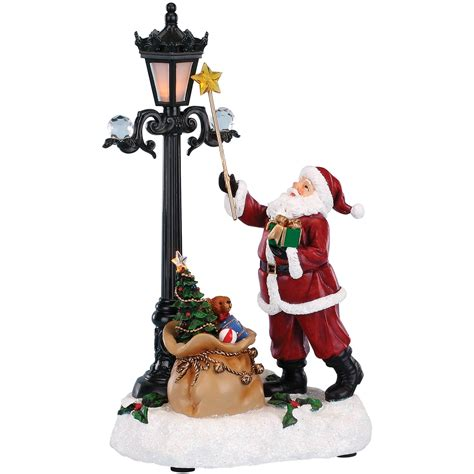 roman musical light up santa lighting l figurine
