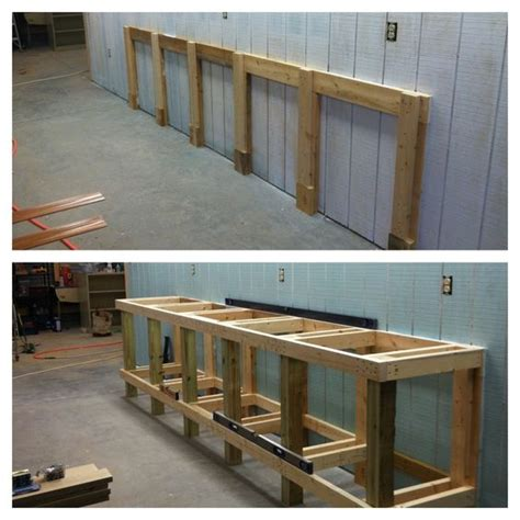 2x6 bench shop work bench framing 4x4 2x4 and 2x6 construction