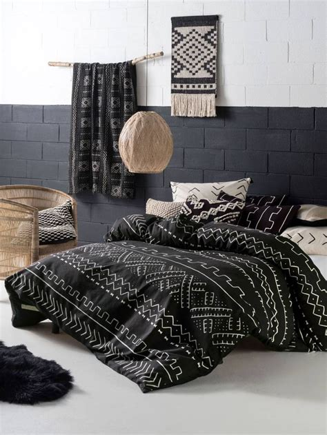 tribal pattern bed set linen house bambara quilt covers african mud cloth