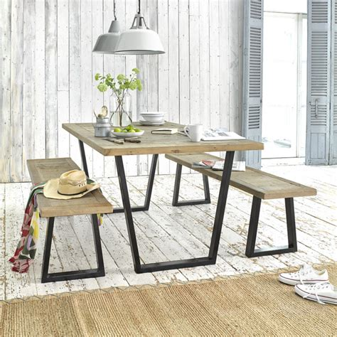 Industrial Style Kitchen Tables Industrial Style Reclaimed Wood Table