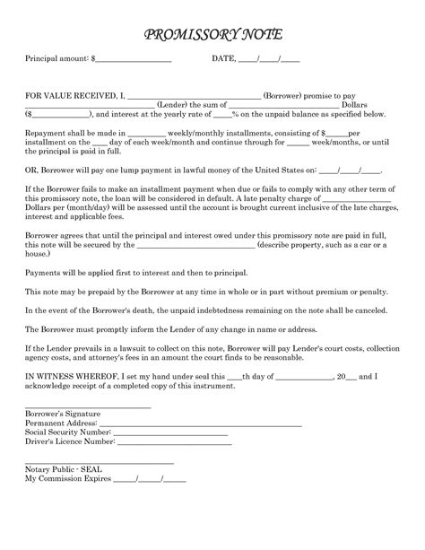 sle promissory note template it resume cover letter