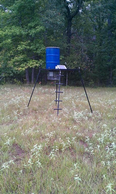 Self Feeding Deer Feeders Deer Feeder I Just Built