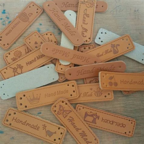 Sewing Labels Handmade By - fashion handmade pu leather labels for pet brown
