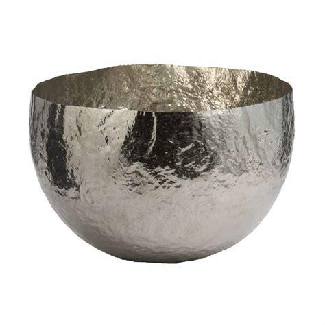 large modern hammered silver nickel decorative bowl elk 346018