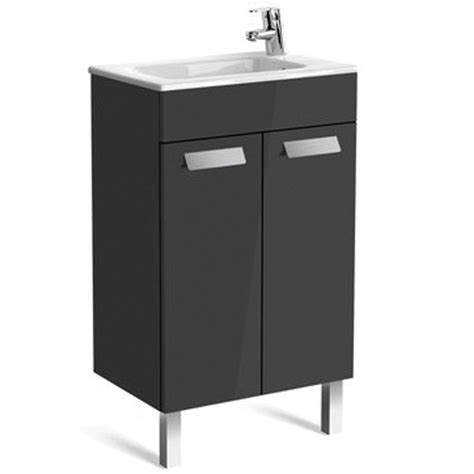 Compact Vanity Unit And Basin by Roca Debba Compact 2 Door Vanity Unit With Basin Uk