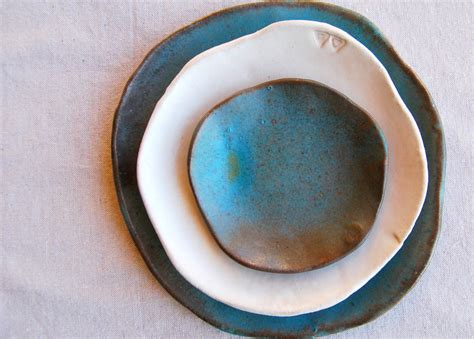 Handmade Pottery Dinner Plates - unavailable listing on etsy