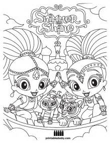 shimmer and shine coloring pages printable shimmer and shine printables baby free coloring pages 2017 free