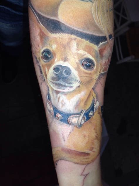chihuahua tattoo chihuahua arm chihuahua portrait